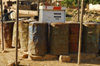 Eritrea - Senafe, Southern region: empty tanks around the only gas pump - photo by E.Petitalot