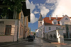 Estonia - Tartu / TAY (Tartumaa province): street and St. John's church - photo by A.Dnieprowsky