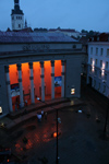 Estonia - Tallinn - Old Town - Opera House - evening - Estonian National Opera - designed by Estonian architects Alar Kotli and Edgar Johan Kuusik - photo by K.Hagen