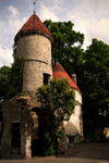 Estonia - Tallinn - Old Town - Viru Gate Tower - evening - photo by K.Hagen