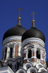 Estonia, Tallinn: Alexander Nevsky Cathedral spires - photo by J.Pemberton