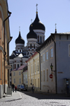 Estonia, Tallinn: Alexander Nevsky Cathedral over old town - photo by J.Pemberton