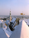 Estonia / Estonsko / Eesti - Tallinn / TLL / Reval : snow covered roofs of the old town - view from Toompea Hill - Unesco world heritage site / Tallinna vanalinn (Harjumaa province) - photo by M.Torres