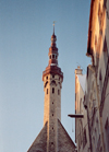 Estonia - Tallinn: spire of the town hall - photo by M.Torres