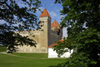 Estonia - Saaremaa island Kuressaare: Episcopal Castle - Watch Tower, Tall Herman - built of chiselled dolomite blocks - Kuressaare piiskopilinnus - photo by A.Dnieprowsky