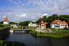 Estonia - Saaremaa island - Kuressaare / Arensburg: ramparts by the water - photo by A.Dnieprowsky