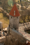 Estonia - Tallinn: tower and ramparts from above - photo by C.Schmidt