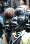 Addis Ababa, Ethiopia: merkato - statues from southern Ethiopia - photo by M.Torres