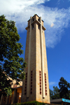 Addis Ababa, Ethiopia: St. Stephanos church - campanile - photo by M.Torres