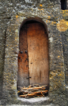 Lalibela, Amhara region, Ethiopia: door in the rock wall around Bet Medhane Alem church - photo by M.Torres