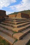 Axum - Mehakelegnaw Zone, Tigray Region: Dungur / Dongour - Queen of Sheba's palace - steps - photo by M.Torres