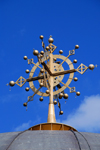 Axum - Mehakelegnaw Zone, Tigray Region: Church of St Mary of Zion - cross atop the dome - photo by M.Torres