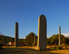 Axum - Mehakelegnaw Zone, Tigray Region: plain stelae in the golden hour sun - Northern stelae field - photo by M.Torres