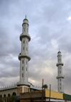 Bahir Dar / Bahar Dar, Amhara, Ethiopia: minarets of the Friday Mosque - photo by M.Torres