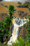 Blue Nile Falls - Tis Issat, Amhara, Ethiopia: pond and lower falls - photo by M.Torres