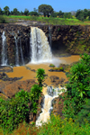 Blue Nile Falls - Tis Issat, Amhara, Ethiopia: two steps of basalt - photo by M.Torres