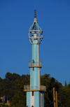 Addis Ababa, Ethiopia: mosque on Menelik II avenue - minaret - photo by M.Torres