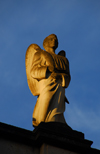 Addis Ababa, Ethiopia: Holy Trinity Cathedral - angel on the roof - photo by M.Torres