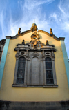 Addis Ababa, Ethiopia: Holy Trinity Cathedral - windows of the south facade - photo by M.Torres