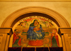 Addis Ababa, Ethiopia: Holy Trinity Cathedral - the Virgin, Jesus and the imperial family - photo by M.Torres