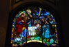 Addis Ababa, Ethiopia: Holy Trinity Cathedral - stained glass - Nativity of Jesus - photo by M.Torres