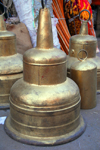 Addis Ababa, Ethiopia: merkato - bell made from a truck wheel - photo by M.Torres