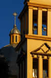 Addis Ababa, Ethiopia: St Ragueal church - bell, dome and cupola - photo by M.Torres