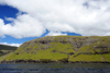 Vestmannasund sound, Streymoy island, Faroes: cliffs - the sound separates Streymoy from V�gar island - a tunnel runds under Vestmannasund - photo by A.Ferrari