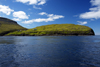 Slaettanes, Streymoy island, Faroes: seen from Vestmannasund sound - the vilage is abbandoned - promontory - photo by A.Ferrari