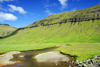 Kaldbaksbotnur, Streymoy island, Faroes: farm and stream at the bottom of Kaldbaksfj�r�ur fjord - photo by A.Ferrari