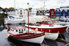 T�rshavn, Streymoy island, Faroes: boats in the east harbour, Eystarav�g - Tinganes in the background - photo by A.Ferrari