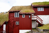 T�rshavn, Streymoy island, Faroes: Faroese houses with turf roofs in the Tinganes peninsula - photo by A.Ferrari