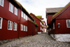T�rshavn, Streymoy island, Faroes: old cobbled street and Faroese houses of Tinganes - photo by A.Ferrari