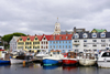 T�rshavn, Streymoy island, Faroes: Tiganes and the western harbour, Vestaravag - storehouses - old commercial buildings along the quayside - V�gsbotnur - '� Bryggjubakka' - photo by A.Ferrari