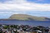T�rshavn, Streymoy island, Faroes: view over Nolsoy island and T�rshavn - photo by A.Ferrari