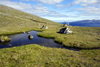 Streymoy island, Faroes: stream along the hiking trail from T�rshavn to Kirkjub�ur - photo by A.Ferrari