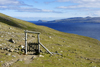 Streymoy island, Faroes: gate and cattle fence on the hiking trail from T�rshavn to Kirkjub�ur - photo by A.Ferrari