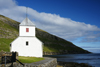 Kirkjub�ur, Streymoy island, Faroes: Olavskirkjan - Saint Olav's church - built in 1110, this parish church was during the Middle Ages the cathedral of the Faroes and the burial site for bishops - photo by A.Ferrari