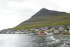 Klaksvik, Borðoy island, Norðoyar, Faroes: town and fishing vessels seen from the sea - Leirvíksfjørður - photo by A.Ferrari