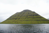 Kunoy island, Norðoyar, Faroes: the 'Woman island' from the sea - photo by A.Ferrari