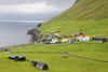 Elduvik village, Eysturoy island, Faroes: seen from the hills - photo by A.Ferrari