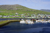 S�rv�gur village, V�gar island, Faroes: the harbour - fishing is the backbone of the local economy - photo by A.Ferrari