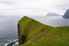 Kalsoy island, Norðoyar, Faroes: cliffs near the Kallur lighthouse - promontory - photo by A.Ferrari