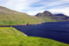 Streymoy island, Faroes: fjord, near Leynar - rugged landscape - photo by A.Ferrari