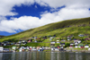 Vestmanna, Streymoy island, Faroes: waterfornt houses - photo by A.Ferrari