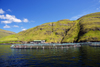 Vestmanna, Streymoy island, Faroes: fish farming - floating fish enclosures - photo by A.Ferrari
