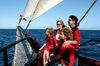 Fiji: family on a Norwegian schooner enjoying a day at sea - photo by R.Eime