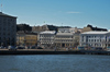 Finland - Helsinki, market square viewed from the sea - photo by Juha Sompinm�ki