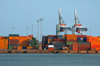 Finland - Helsinki, Ruoholahti area, containers at the port - photo by Juha Sompinm�ki