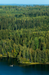 Finland - Hämeenlinna, Aulanko, natural reserve and park, Finnish national landscape - lake and forest from the air - photo by Juha Sompinmäki